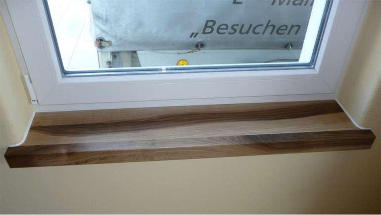 Fensterbrett Nussbaum Lackiert