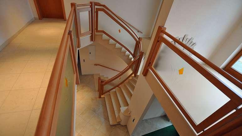 Treppengeländer Buche Lackiert Glasgeländer